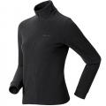 ODLO LENGGRIES #290221 女性超細纖維Micro Fleece半門襟長效保暖上衣--灰黑條 L號/零碼七折出清