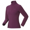 ODLO LENGGRIES #290221 女性超細纖維Micro Fleece半門襟長效保暖上衣(紫紅條 S號 七折出清)