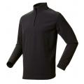 ODLO BIG MOUNTAIN #290602 男性超細纖維Micro Fleece半門襟長效保暖上衣--灰黑條XL號/零碼七折出清)