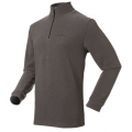ODLO BIG MOUNTAIN #290602 男性超細纖維Micro Fleece半門襟長效保暖上衣--深灰條L、XL號/零碼七折出清