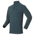 ODLO BIG MOUNTAIN #290602 男性超細纖維Micro Fleece半門襟長效保暖上衣--亮藍條L、XL號/零碼七折出清