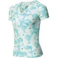ODLO #343161 女性銀纖維V領短袖排汗印花T恤(藍色XS號 S號六折出清)