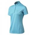 ODLO  女性銀纖維透氣立領短袖排汗衫--藍色L號 #344611-26700/零碼五折出清