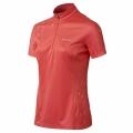 ODLO #344611 女性銀纖維透氣立領短袖排汗衫(37500,紅色L號) 五折出清/運費另計