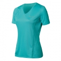 ODLO  女性銀纖維透氣短袖V領排汗衫--藍色XL號 #344631-26700/五折出清