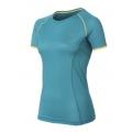 ODLO  女性銀纖維透氣短袖圓領排汗衫- 青綠色M、L號 #346601-20035 /零碼七折出清