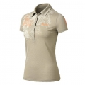 ODLO #522831 Polo shirt SAVANNA 女性銀離子抗UV短袖POLO衫(卡其色M號) 五折出清