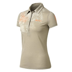 ODLO #522831 Polo shirt SAVANNA 女性銀離子抗UV短袖POLO衫--卡其色M號/零碼五折出清