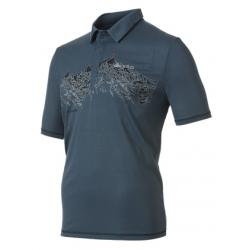 ODLO #524342 Polo shirt ROOM TO BREATHE 男性銀離子抗UV短袖POLO衫--藏藍 M號/零碼五折出清