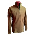 ODLO #540842  TITLIS Stand-up collar ½ zip 男性半門襟彈性保暖上衣(咖啡色L,2L號 零碼出清)