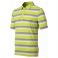 ODLO #541502 Polo shirt stripes 男性銀離子抗UV短袖POLO衫(灰/螢綠M 號 五折出清)