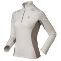 ODLO #611861 Stand-up collar ½ zip NORDIC 女性超細纖維Micro Fleece半門襟長效保暖上衣(白灰L號 六五折出清)