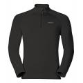 ODLO #222002-15000 男性半門襟立領彈性長效保暖上衣(黑色)