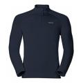 ODLO #222002-20900 男性半門襟立領彈性長效保暖上衣(軍藍L號)