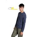 OmnXtreme 110213 男款吸濕排汗抗UV長袖上衣-丈青色