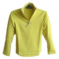 OmnXtreme歐格翠OX 120064 女立領長袖彈性保暖排汗薄上衣(檸檬黃) ☆買一送一