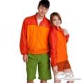 OmnXtreme 150164 男款防紫外線彈性連帽防風紙衣-橙橘