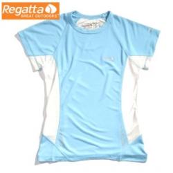 Regatta Flyaway T 女性短袖排汗衫(RB藍色14 (L)號) 六六折出清