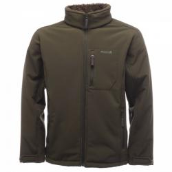 Regatta Cato Fur Backed Softshell 男款防潑水軟殼保暖外套(綠褐色 M , XL號)七折出清