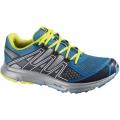 法國Salomon XR Shift 男款GTX 輕量透氣跑鞋/城市越野鞋--藍/黃UK 9號、9.5號 #328394/零碼六折出清