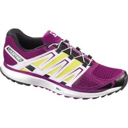 Salomon W X-SCREAM 女款輕量透氣野跑鞋 (358858 紫/黃UK6 號)七五折出清