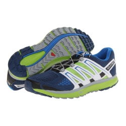 Salomon M X-SCREAM 男款輕量透氣野跑鞋 (361922 藍/亮綠)七五折出清