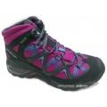 法國SALOMON MEZARI MID GORE-TEX女款防水透氣登山鞋--黑/神秘紫UK6號 #SA373768/零碼六折出清