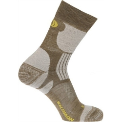 Salomon Hiking EXIT 羊毛登山襪(米黃色S、L號 ,102248)