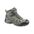 法國SALOMON Authentic LTR 男款GTX防水越野健行鞋--綠色 UK11號 #356953/零碼六折出清/鞋面皮質不保固!