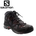 法國SALOMON Crossraod MID GTX 男款 輕量中筒登山鞋--灰/黑UK10號 #368800/零碼六折出清/鞋面皮質不保固!