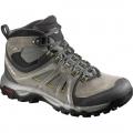 法國SALOMON EVAsion MID GTX® 男款GTX中筒防水登山鞋(#378376 灰綠UK9~10)