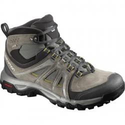 法國SALOMON EVAsion MID GTX® 男款 GTX中筒防水登山鞋--灰綠UK9~10 #378376/零碼六折出清