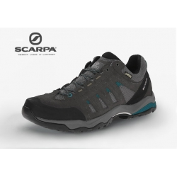 SCARPA義大利 Men's Moraine GTX Hiking Shoe 男款 低筒登山鞋 63072-201 灰藍EU43、45