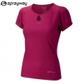 Sprayway Solar SS 女性椰碳纖維排汗圓領上衣-2794-151(紅色XL號) 五折出清