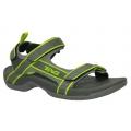 TEVA 4141 Tanza 男用多功能戶外涼鞋(黑黃款USA 8 號) -低價出清不保固、不附原廠鞋盒