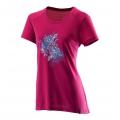 Wildland荒野 女款仿棉長版抗UV上衣 0A21607-21 紫紅-XL