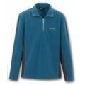 Wildland 荒野 男款TECNOPILE輕量刷毛保暖上衣82502(中藍色XL號/五折出清)