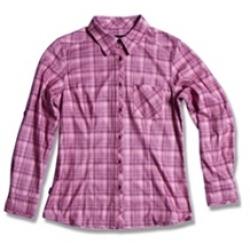Wildland 荒野 女性戶外休閒款格子布保暖襯衫XL號-92201/四折出清