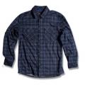 Wildland 荒野 男性戶外休閒款格子布保暖襯衫(92202, 黑色M號/四折出清)