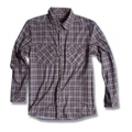 Wildland 荒野 男性戶外休閒款格子布保暖襯衫(92202, 深卡其色2L號/四折出清)