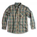 Wildland 荒野 男性戶外休閒款格子布保暖襯衫(92206, 駱黃色L號/四折出清)
