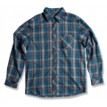 Wildland 荒野 男性戶外休閒款格子布保暖襯衫(92206, 灰藍色M號/四折出清)