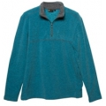Wildland 荒野 男款雙色麻花PILE保暖上衣-92510(海藍色XL號/四折出清)
