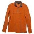 Wildland 荒野 男款雙色麻花PILE保暖上衣-92510(橘色L號/四折出清)