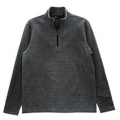 Wildland 荒野 男款雙色條紋PILE保暖上衣-9251692(中灰色XL號/四折出清)