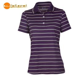 Wildland 荒野 女款涼感紗YOKE領短袖POLO排汗衫0A01613-79(深紫色M號/四折出清)