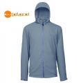 Wildland荒野 男性透氣抗UV輕薄外套 (0A01902-92, 中灰色XL號/六折出清)