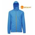 Wildland荒野 男性透氣抗UV輕薄外套 (0A01908-77, 中藍色XL號/六折出清)