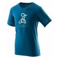 Wildland荒野 男仿棉印花圓領上衣 ( 0A21612-46土耳其藍)